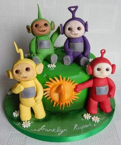 Ahh Teletubbies! by Elizabeth Miles Cake Design