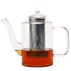 THÉIÈRE EN VERRE ÉTÉ 0,8L Théière transparente en verre trempé, résistant à la chaleur. Fournie avec un filtre en acier.  Ne pas utiliser au micro-onde ni au lave-vaisselle.