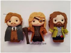 Remus Lupin, Mad Eye Moody and Sirius Black Harry Potter Navidad, Harry Potter Facts, Harry Potter Diy, Harry Potter Characters, Christmas Gifts For Girlfriend, Boyfriend Gifts, Felt Dolls, Baby Dolls, Harry Potter Christmas Decorations