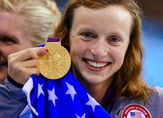 Katie Ledecky, a U.S. swimmer from Maryland who says she always prays the Hail…