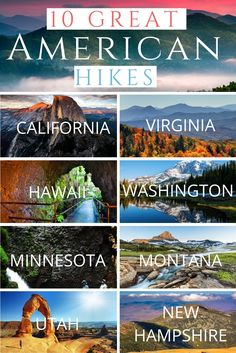 """""""If you're the kind of person who thinks there's no better way to spend a beautiful day than by challenging yourself on a mountain trail, these 10 day hikes will be right up your alley. They take in some of America's most impressive scenery–and they're all doable without spending the night on the trail."""""""