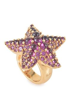 Vintage Pomellato Sirene Pave Rhodolite Starfish Ring by SWI Group on @HauteLook