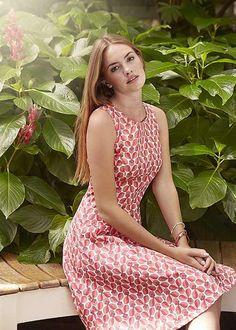 People Tree. Orla Kiely Wallflower Sleeveless Dress. SS15. www.peopletree.co.uk. via Evoke