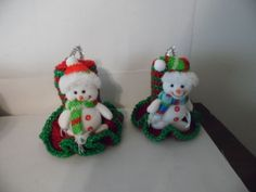 Candles-Set-of-2-Christmas-Snowman-Crocheted-Candles