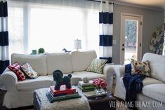 DIY curtain ideas, love the painting idea & easy how to for black out lining.