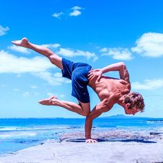 Beach Yoga | Yoga Pose | Yoga Inspiration | Yogi Goals | Yoga For Men | Flexibility