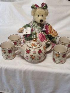 Royal-Albert-Old-Country-Roses-5piece-Tea-Set-W-Bear