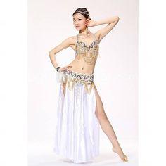 Perles de performance de scène de danse du ventre costumes-ensemble classique de 3 y compris haut, ceinture et jupe (plus de couleurs) de 2579839 2016 à €68.59