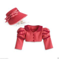 New American Girl Caroline's Spencer Jacket & Hat from Travel Outfit NIB NRFB