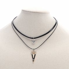 Find More Choker Necklaces Information about Women Black Multilayer Leather Choker Necklace with Crystal Stone and Enamel Triangle Gothic Style Necklace Jewelry,High Quality necklace with,China choker necklace Suppliers, Cheap necklace jewelry from Winslet&Jean on Aliexpress.com
