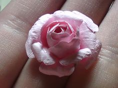 Crafty Loops: Flower Tutorial - Small Prima Like Roses - Using Tim Holtz Tattered Florals Die