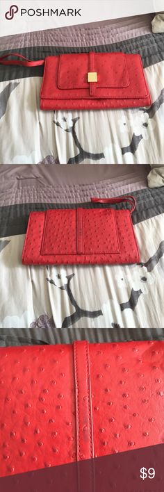 The Limited Red Clutch/Wristlet Non smoking and pet free home! The Limited Bags Clutches & Wristlets