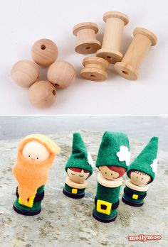 DIY Miniature Leprechaun Dolls to inspire play and mischief | MollyMooCrafts.com #stpatricksday