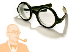 Spectacles, Le Corbusier style, 1930s by galessa's plastics, via Flickr