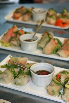 Using rice spring roll wrappers are a delicious way to enjoy these low #fodmap appetizers!