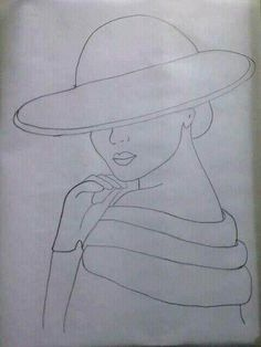 (notitle) – Priscila Maureira – Join in the world of pin Art Drawings Sketches Simple, Pencil Art Drawings, Easy Drawings, Woman Painting, Fabric Painting, Painting & Drawing, Applique Patterns, Applique Quilts, Cute Kawaii Drawings