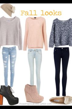 Three different outfits for school or wherever you go