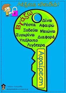 Teachers Aid: ΜΑΘΗΜΑΤΙΚΕΣ ΠΡΑΞΕΙΣ - ΛΕΞΕΙΣ ΚΛΕΙΔΙΑ Learning Games For Kids, Math For Kids, Elementary Teacher, Elementary Education, Behavior Cards, Math Subtraction, Teaching Math, Maths, Third Grade Math