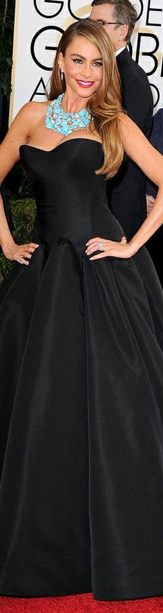 Sofia Vergara in Zac Posen   Golden Globes