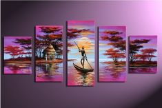 Modern Abstract Huge Wall Art Oil Painting On Canvas (No Frame) for sale online 5 Piece Canvas Art, Large Canvas Art, Abstract Canvas Art, Oil Painting Abstract, Hand Painting Art, Painting Canvas, Painting Trees, Painting Portraits, China Painting