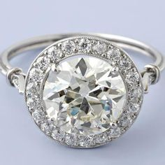How Are Vintage Diamond Engagement Rings Not The Same As Modern Rings? If you're deciding from a vintage or modern diamond engagement ring, there's a great deal to consider. Round Diamond Engagement Rings, Deco Engagement Ring, Antique Engagement Rings, Antique Rings, Antique Jewelry, Diamond Rings, Halo Rings, Antique Art, Vintage Jewelry