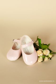 Pantofiori botez fete Roz