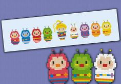 Rainbow Brite - Cartoons - Mini People - Cross Stitch Patterns - Products
