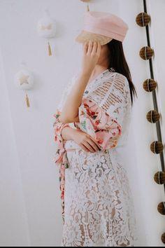 GoustoMouKeCapeloMou & Beach Wear By Elena Chalati #hat #pink #lace #beachwear