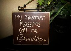 Vinyl Lettering Greatest Blessings call me Grandma, Nana, Grandpa, Papa , GG  - board - personalize for free on Etsy, $10.00