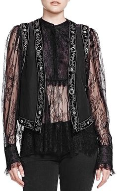 the kooples matka embroidered vest