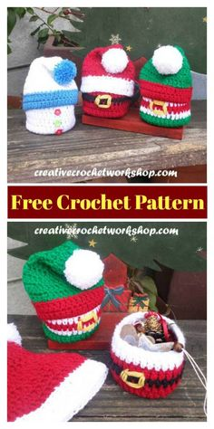 Crochet Gift Christmas Gift Basket Free Crochet Pattern - Instead of buying a boring paper gift bag, you can crochet the Christmas Gift Sack Bag. The Christmas Gift Sack Bag Free Crochet Pattern is quick and easy to work up. Free Christmas Gifts, Crochet Christmas Gifts, Christmas Gift Baskets, Christmas Bags, Christmas Knitting, Christmas Stockings, Christmas Crafts, Christmas Holiday, Crochet Teacher Gifts
