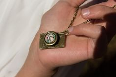 Long Necklace Antique Bronze Camera Vintage Playing by Mindiemay, $24.99