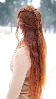 elvish *Tauriel* inspired hairstyle <3
