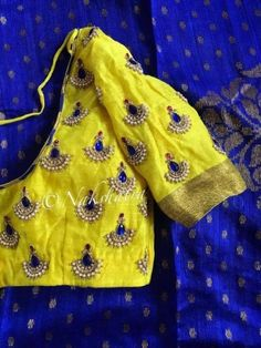 Find here the most unique blouse designs for south indian brides. From bird motifs to long sleeves, blouse for silk sarees to kanjeevarams, we have it all. Hand Work Blouse Design, Kids Blouse Designs, Simple Blouse Designs, Fancy Blouse Designs, Bridal Blouse Designs, Blouse Neck Designs, Bollywood, Maggam Work Designs, Designer Blouse Patterns