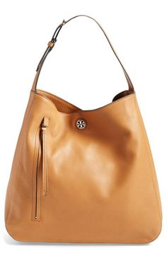 Free shipping and returns on Tory Burch 'Brody' Leather Hobo Bag at Nordstrom.com. A polished Tory Burch medallion provides a hint of gleam to a streamlined hobo bag cast in supple, richly grained leather. A sweeping zip pull makes an elegant finishing touch.