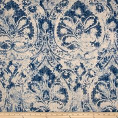 Blue And White Fabric, Blue Fabric, White Fabrics, Karim Rashid, Home Decor Fabric, Fabric Art, Fabric Painting, Laura Ashley, Drapery Fabric