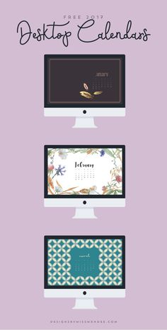 FREE 2017 Desktop Calendars. See the new year at a glance and beautify your digital workspace with these lovely, feminine designs.