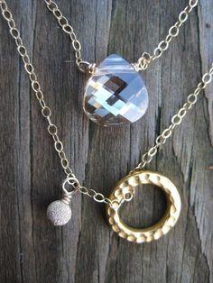 HELLO SUNSHINE NECKLACE Layered necklace by JewelryMadebyMaggie, $44.00