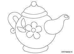 Teapot coloring page printable