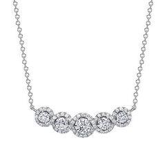 Round Brilliant 1.00 ctw VS2 Clarity, I Color Diamond 14kt White Gold Necklace