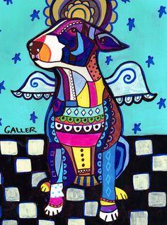 DOG ART  Miniature Bull Terrier