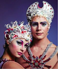 Make up art is an important part of the Cirque du Soleil experience