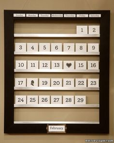 "See the ""Reusable Tile Calendar"" in our Desk Organizing Ideas gallery"