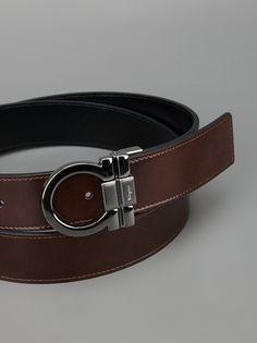 SALVATORE FERRAGAMO - embossed brand buckle belt 3