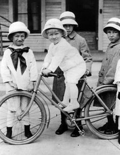 Young President Gerald Ford on a bike (probably not his!) babies and bikes! My two favorite things! ! !