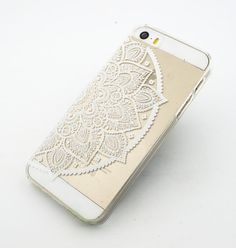 Clear Plastic Case Cover for iPhone 6 4.7 Henna Lotus by STUCHI