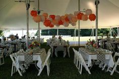 Outdoor tent reception in Door County, Wisconsin. #wedding #dc #doorcounty