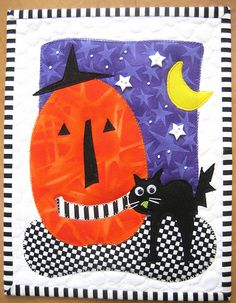 halloween mini quilt