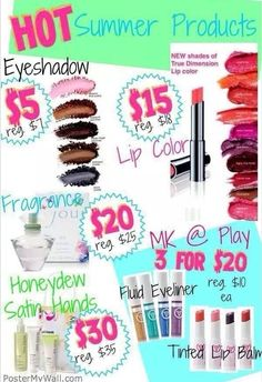 Mary Kay's NEW Summer Products!!!   So many fun colors!  Order now before they are gone!