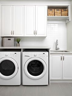 """Acquire wonderful tips on """"laundry room storage diy cabinets"""". They are actually available for you on our internet site. Laundry Room Tile, Modern Laundry Rooms, Laundry Room Layouts, Laundry Room Remodel, Laundry Room Cabinets, Laundry Room Organization, Diy Cabinets, Ikea Laundry, Garage Laundry"""